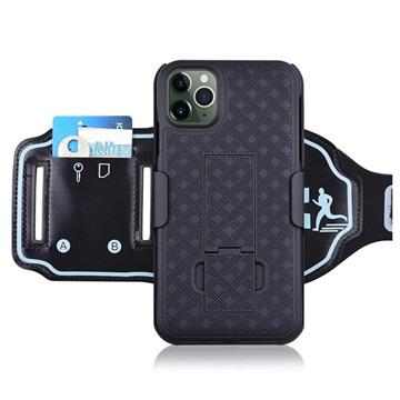 2-in-1 Onzichtbare iPhone 11 Pro Armband Zwart