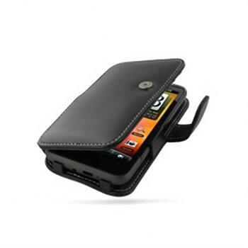 HTC Desire HD PDair Leren Case 3BHTEHB41 Zwart