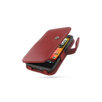 HTC Desire HD PDair Leren Case 3RHTEHB41 Rood