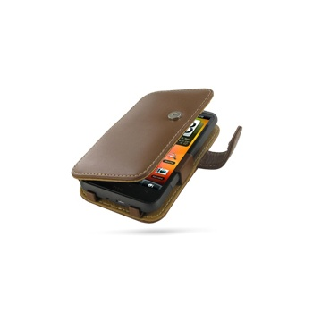 HTC Desire HD PDair Leren Case 3THTEHB41 Bruin