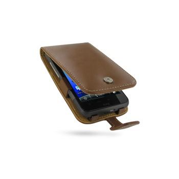 HTC Desire HD PDair Leren Case 3THTEHF41 Bruin