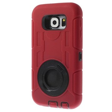Samsung Galaxy S6 4-in-1 Heavy Duty Cover Rood