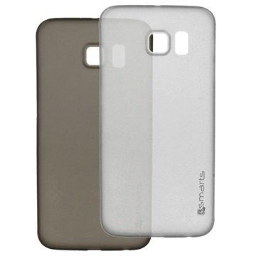 Samsung Galaxy S6 4smarts Bellevue Clip Ultradunne Cover Set Zwart & Wit