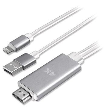 4smarts Lightning-HDMI 4K UHD Adapter iPhone, iPad, iPod 1.8m