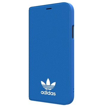 iPhone X Adidas Originals Basic Logo Boek Flip Case Blauw