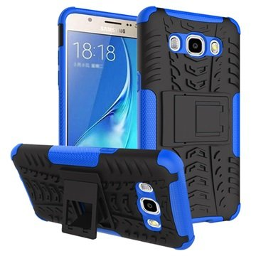 Samsung Galaxy J5 (2016) Anti-Slip Cover Zwart / Blauw