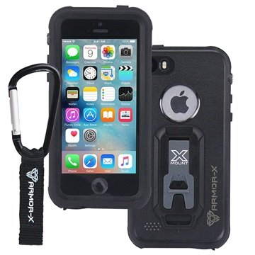 iPhone 5-5S-SE Armor-X Ultimate Waterdicht Hoesje Zwart