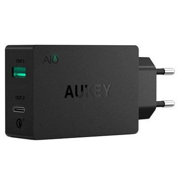 Aukey PA-Y2 Qualcomm Quick Charge 3.0 Type-C Stopcontact Lader 6A
