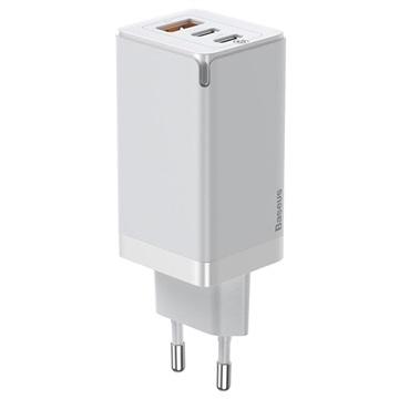 Baseus GaN2 Pro Snelle Oplader met USB-C Kabel CCGAN2P-B02 65W Wit