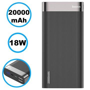 Baseus Parallel PD 20000mAh Powerbank 18W Zwart