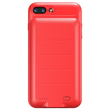 iPhone 7 Plus-iPhone 8 Plus Baseus Slim Batterij Hoesje Rood