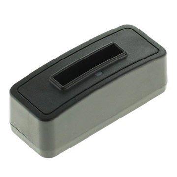 Batterij Oplader Fuji NP-40, Pentax D-LI85, Samsung SLB-0737 Zwart