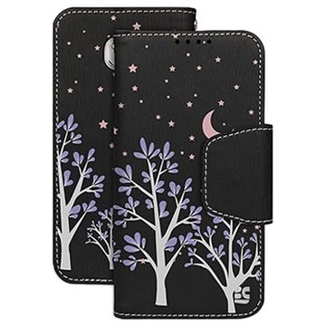Samsung Galaxy S6 Beyond Cell Infolio Design Wallet Hoesje Purple Night