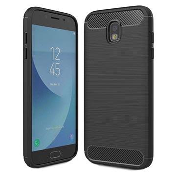 Samsung Galaxy J5 (2017) Brushed TPU Case - Carbon Fiber Zwart