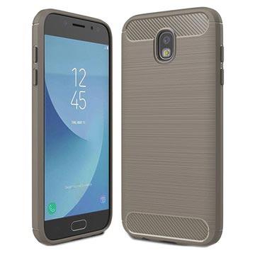 Samsung Galaxy J5 (2017) Brushed TPU Case - Carbon Fiber Grijs