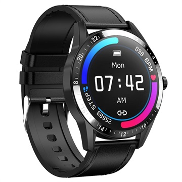 Business Style Waterbestendig Smartwatch met Hartslagmeter G20 Zwart