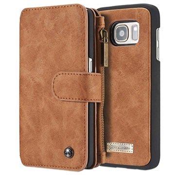 Samsung Galaxy S6 Caseme Multifunctionele Wallet Leren Hoesje Bruin