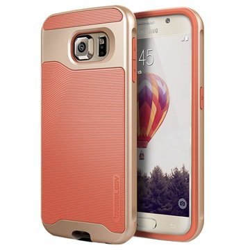 Samsung Galaxy S6 Caseology Wavelength Cover Coral Roze / Goud