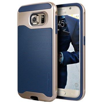 Samsung Galaxy S6 Caseology Wavelength Cover Navy Blauw / Goud
