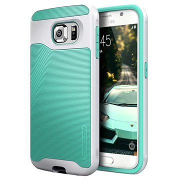Samsung Galaxy S6 Caseology Wavelength Cover Turkoois / Zilver