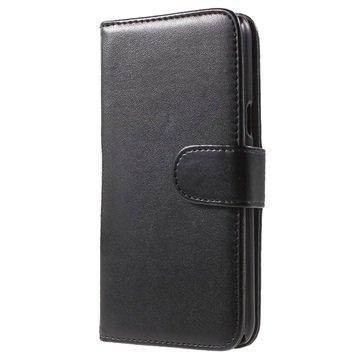 Samsung Galaxy J5 Klassieke Wallet Hoesje Zwart