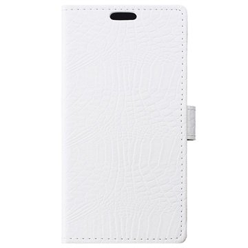 Microsoft Lumia 650 Crocodile Wallet Hoesje Wit