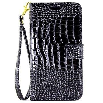 Samsung Galaxy C5 Crocodile Wallet Case Zwart