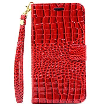 Samsung Galaxy C5 Crocodile Wallet Case Rood