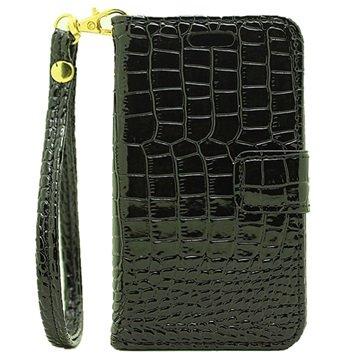 Samsung Galaxy J1 Nxt Crocodile Wallet Case Zwart