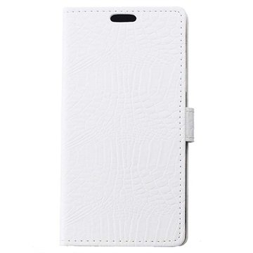 Samsung Galaxy J7 Crocodile Wallet Hoesje Wit