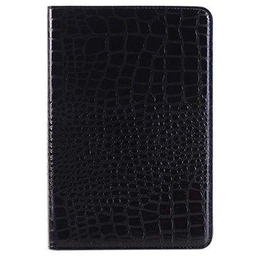 iPad Mini 4 Crocodile Wallet Hoesje Zwart