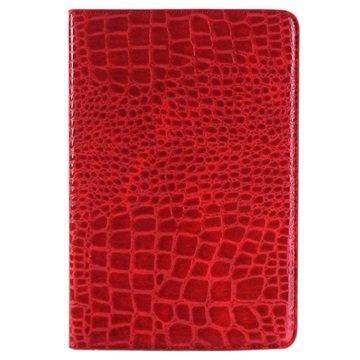 iPad Mini 4 Crocodile Wallet Hoesje Rood