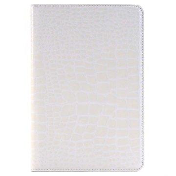 iPad Mini 4 Crocodile Wallet Hoesje Wit