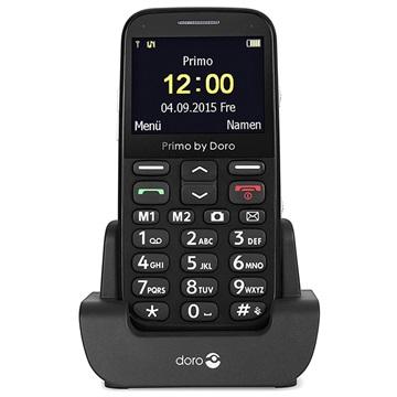 Primo by DORO Senioren mobiele telefoon Zwart