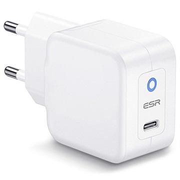 ESR EFB004O Universele PowerDelivery Stopcontact Lader 20W, USB-C Wit