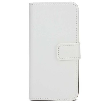 iPhone 5-5S-SE Wallet Leren Hoesje Wit