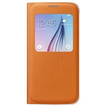Samsung Galaxy S6 S-View Stoffen Flip Case EF-WG920BO Oranje