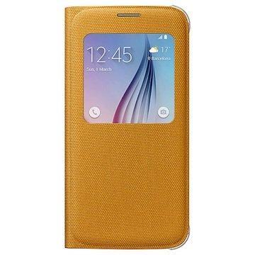 Samsung Galaxy S6 S-View Stoffen Flip Case EF-WG920BY Geel