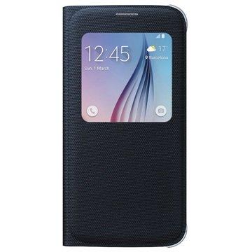 Samsung Galaxy S6 S-View Fabric Flip Case EF-CG920BBEGWW Zwart