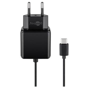 Goobay Universele USB-C Stopcontact Lader 15W, 5V-3A Zwart