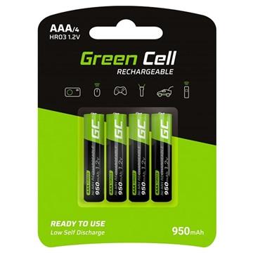 Green Cell HR03 Oplaadbare AAA Batterijen - 950mAh - 1x4