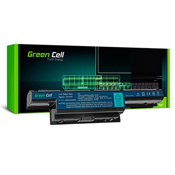 Green Cell Accu Acer Aspire, TravelMate, Gateway, P.Bell EasyNote 4400mAh
