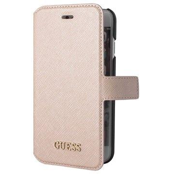 iPhone 6-6S Guess Saffiano Look Wallet Hoesje Beige