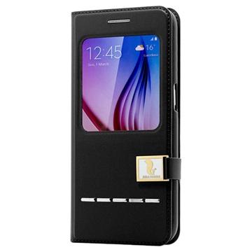 Samsung Galaxy S6 Hello Deere Ailun II Series View Flip Case Zwart