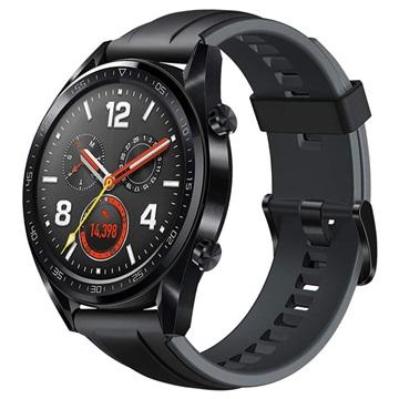 Huawei Watch GT 55023255 Silicone Strap Grafiet Zwart