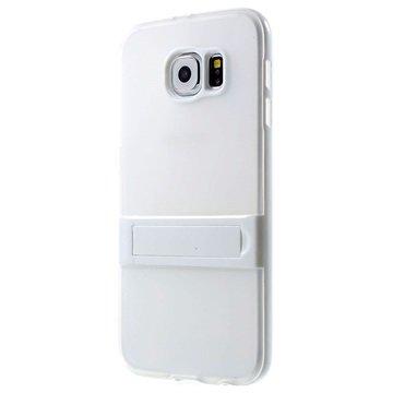 Samsung Galaxy S6 Hybrid Onzichtbare Staander Cover Wit