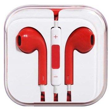 In-ear Koptelefoon iPhone, iPad, iPod Rood