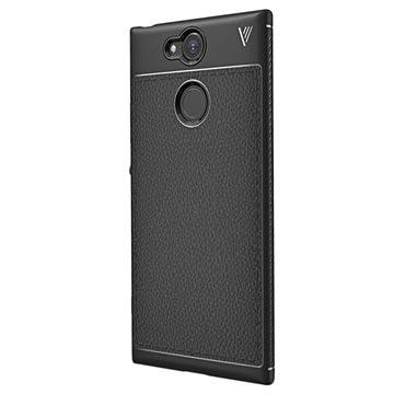 Sony Xperia XA2 Ivso Gentry Textuur TPU Case Zwart