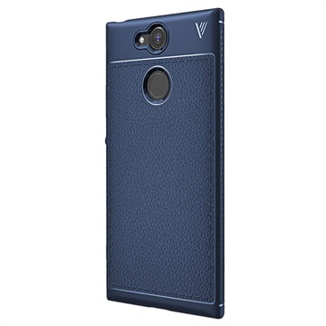 Sony Xperia XA2 Ivso Gentry Textuur TPU Case Donkerblauw