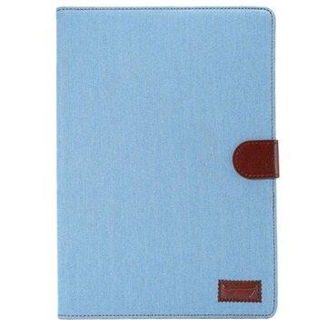 Samsung Galaxy Tab A 9.7 Jeans Smart Wallet Hoesje Baby Blauw